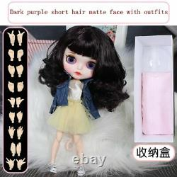 12 Neo Blythe factory Doll Dark purple hair matte face + all outfits + 9 hands