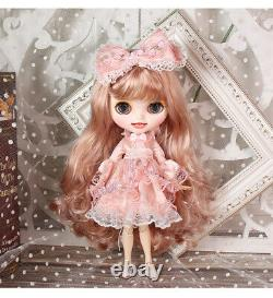 12 Neo Blythe factory Doll Pink Blond hair makeup face+ smile teeth + 9 hands