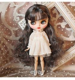 12 Neo Blythe factory Doll Purple mix hair makeup face+ smile teeth + 9 hands