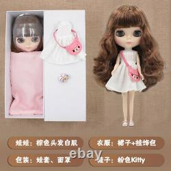 12 Neo Blythe factory Doll brown bangs hair standard body + all outfits