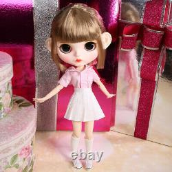 12 Neo Blythe factory Doll short blond bangs hair Joints body makeup cute eyes