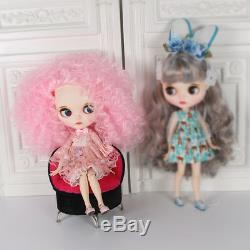 12 Neo Nude Blythe Doll From Factory Pink Hair Make-up Eyebrow Sleeping Eye