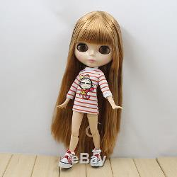 12Neo Blythe Blond Hair from Factory Joint Body NudeDoll+Gift(hands) JS96007