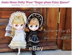 Blythe neo outfit Gothic dress Bonnet clothing juniemoon sugar plum fair queen