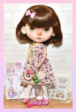 Custom Neo Blythe Doll by Taradolls OOAK FBL Puppelina Eyechips Takara Tomy