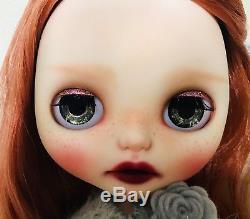Fiona Custom Blythe By Almond Doll OOAK Red Hair 12 Neo Blythe