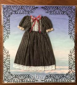 Hanon Black Pinstripe Handmade Dress Neo Blythe Licca Doll Outfit Satomi Fujii