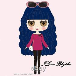 Hasbro Exclusive Neo Blythe Doll Curly Blue Babe NRFB