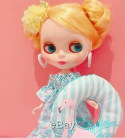 Hasbro Takara CWC Neo Blythe Doll Fani Flamingo