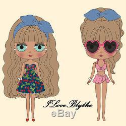 Hasbro Takara Tomy cwc Neo Blythe doll Cherry Beach Sunset