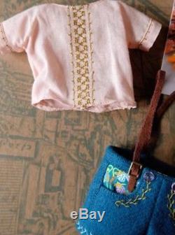 M for Monkey mformonkey Neo Blythe doll teal lederhosen shorts outfit set 2016