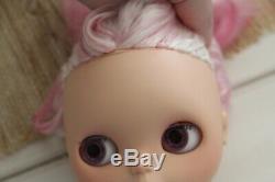 Neo Blythe Doll Custom OOAK EBL SplitAlmondMilk Alpaca Pink Reroot