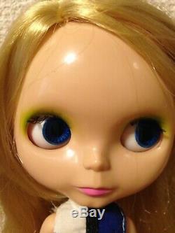 Neo Blythe doll BL-1 Mondrian super shiny face used nude F/S