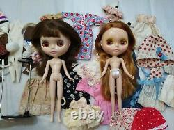 Neo Blythe doll LOT Velvet Minuet Very Inspired Pow Wow Poncho Clothes stands