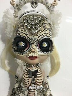 Neo Kenner Blythe Custom Doll by Picara Roguedolls OOAK The Skull Girl