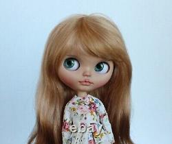 OOAK Custom NEO TBL Factory Fantazy Gala Blythe Artist Doll Light Tan Mohair
