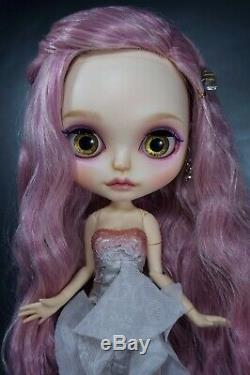 OOAK custom Neo Blythe doll Rose Quartz Crystal Goddess repaint bjd Pullip