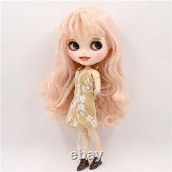 Pink hair Takara 12 Neo Blythe Customized Face Nude Doll Factory Joint Body#236