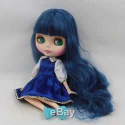 Takara 12 Neo Blythe Blue Hair Joint Body Nude Doll from Factory TBY133