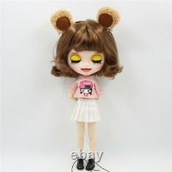Takara 12 Neo Blythe brown short Hair smile Nude Doll Factory Joint Body TBY148