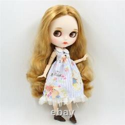 Takara 12 Neo Blythe golden Hair Nude Doll Dudu mouth Factory joint body TBY01