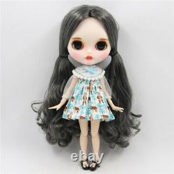 Takara 12Neo Blythe Grey Hair customized Nude Doll Joint Body Factory TB0200