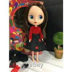 Takara Neo Blythe Doll Rosie Red matte face BL-3 FREE Petite Blythe Mondrian JP