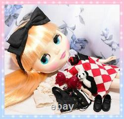 Takara Tomy Neo BLYTHE Cousin Olivia 2008 SBL Doll Outfit Dress Boots Hasbro