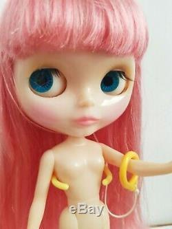 Used Nude Neo Blythe Doll Nostalgic pop with Snowflake sonata scalp